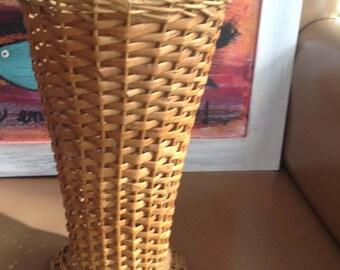 Basket Wicker rattan basket, rattan wicker vintage, garden, romantic vase vase vase vase