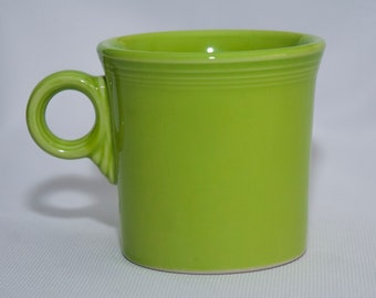 Vintage Chartreuse Fiestaware Mugs 1993 Discontinued (4 available)