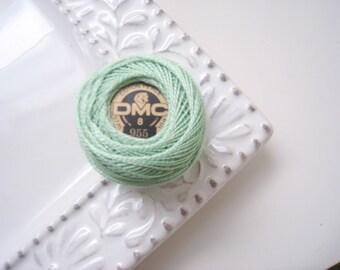 DMC Perle Cotton Thread Size 8 Nile Green 955