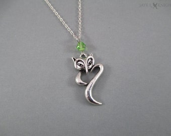 Fox Charm Necklace - Silver