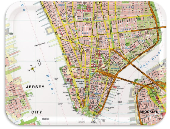 New York Map Tray 17x13