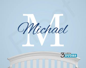 Personalized Name Monogram Vinyl Wall Decal