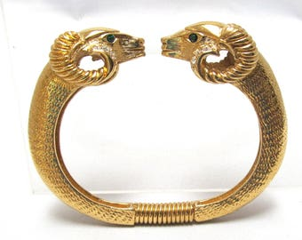KJL Rams Head Clamper Bracelet Kenneth J Lane for Avon