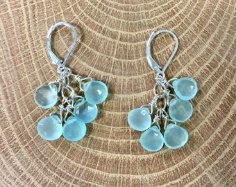 Chalcedony Cascade Earrings