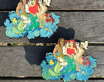 Dianey Orgy art by EMI Giovannini LE30 & LE69 for KinkedPins Kinked pins