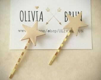 Gold Star Bobby Pins Star Hair Pins Hair Clips Star Jewelry Hair Accessories