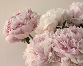 Peony Print,  Floral Art Print, Pink Peony Wall Art, Shabby Chic Home Decor,  Flower Photography