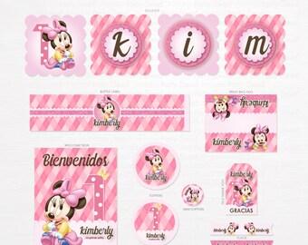 Printable Birthday Minnie Mouse   Minnie Mouse Party   Minnie Birthday Kit   Minnie Mouse Birthday Party   Pink Party Printable Party Sweet