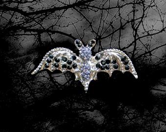 50% SALE Halloween Bat Pin..Bat Brooch..Vampire Pin..Batman Pin..Bat Woman Costume..Bat Costume Accessory..True Blood Jewelry Halloween Gift