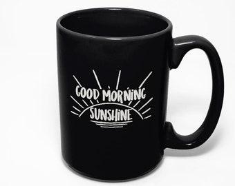 Good Morning Sunshine Etched Coffee Mug