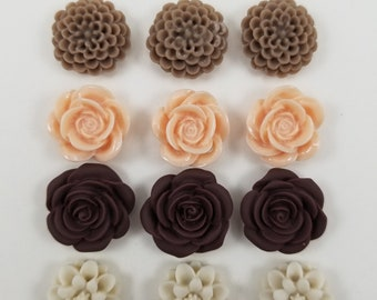 SUPER STRONG! Springtime Flowers 3, Set of 12, Flower Magnets, Fridge Magnets, Neodymium Magnets, Magnetic Memo Board Magnet, Home or Office
