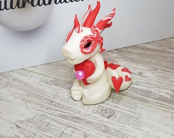 Polymer Clay Love Heart Pearl Dragon