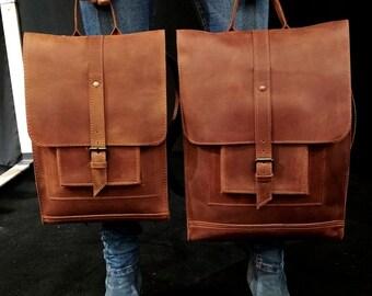 Brown backpack leather backpack large backpack casual backpack laptop backpack travel backpack work backpack big backpack tablet backpack