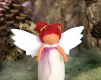 Little guardian angel - waldorf inspired, needle felted, by Naturechild