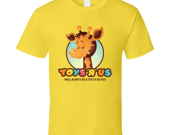 Toys R Us Giraffe Kids Toys Yellow T Shirt