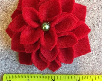 Felt dahlia, dahlia, artificial flower, decor