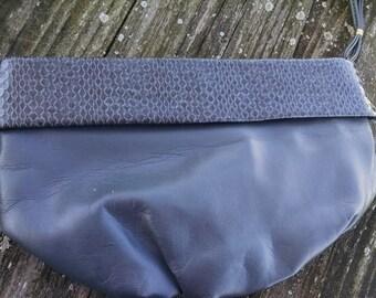 Gray Wristlet Purse