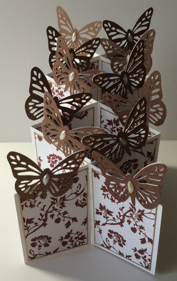 Butterfly themed Cascade Card SVG and