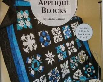 100 Any-Size Applique Blocks Instruction Book with CD
