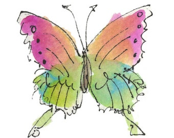 """AMAZON BUTTERFLY.Clipart / Digital Download / Hi Resolution of Original Watercolor . 8""""x10"""" Great for a multitude of applications."""