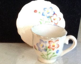 Very Vintage Child's Tea Cup and Saucer