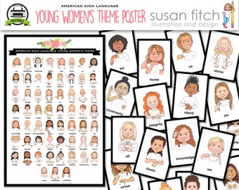 ASL Young Women's Theme Poster and Cards