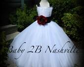 White Dress Flower Girl D...