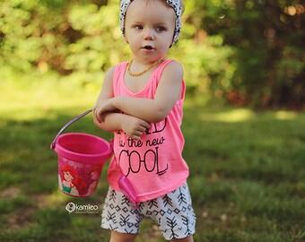 Black Arrow Baby Shorts/ Toddler Shorts/ Kids Shorts/ Baby Shorties/ Baby Girl Shorts/ Toddler Shorties/ Summer Shorts/ Newborn Shorts