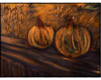 PUMPKINS in the SETTING SUN