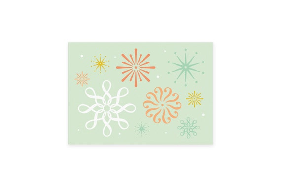 Postcard: Punctual // Abstract minimalist colourful card // Postcard art // Flower pattern // Can also be framed as a small print