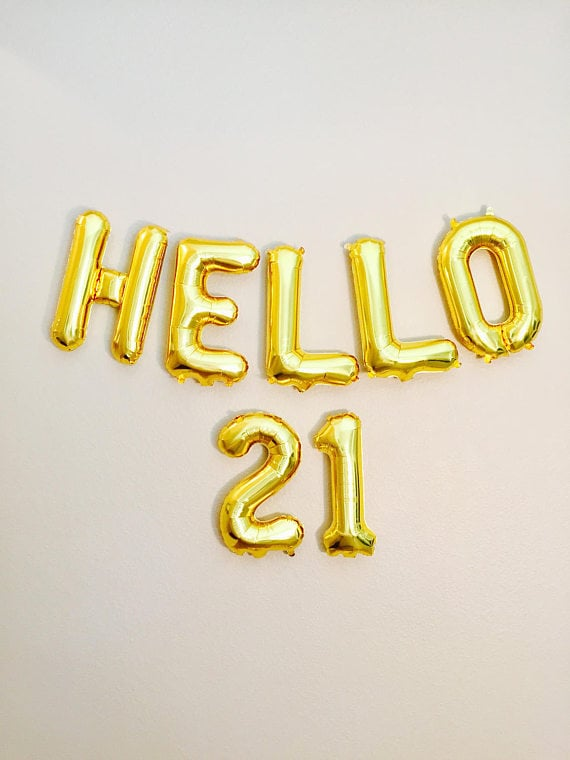 O 21 Balloons 21st Birthday 21st 21 Number Balloons on