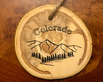 Colorado Aspen Christmas Tree Ornament