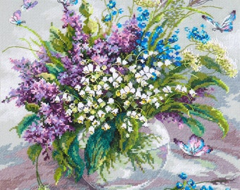Cross Stitch Kit Tender May