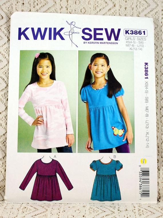 Kwik Sew 3861, Girls\' Tops Sewing Pattern, Girls\' Butterfly Tops ...