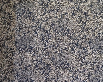 Outdoor Fabric, Outdoor Cushion Fabric, Outdoor Pillow Fabric, Navy and White Outdoor Fabric, Waverly Bonaire