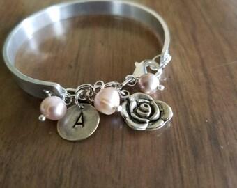 Loved Hand Stamped Bracelet