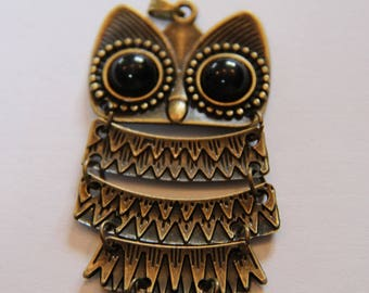 BRONZE OWL PENDANT FOR NECKLACE