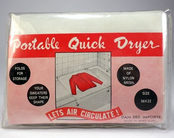 Vintage Portable Quick Dryer for Tub, Nylon Mesh, Sweaters, Shirts