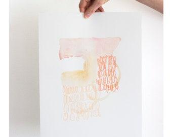 "Allie Kushnir | Best Case Scenario | 11"" x 14"" Mixed Media Painting | Chicago Artist | Apartment Decor | Modern Art | 11 14 inches"