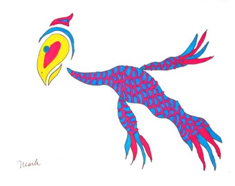 Dragon Bird, print on the shop Chiselwit