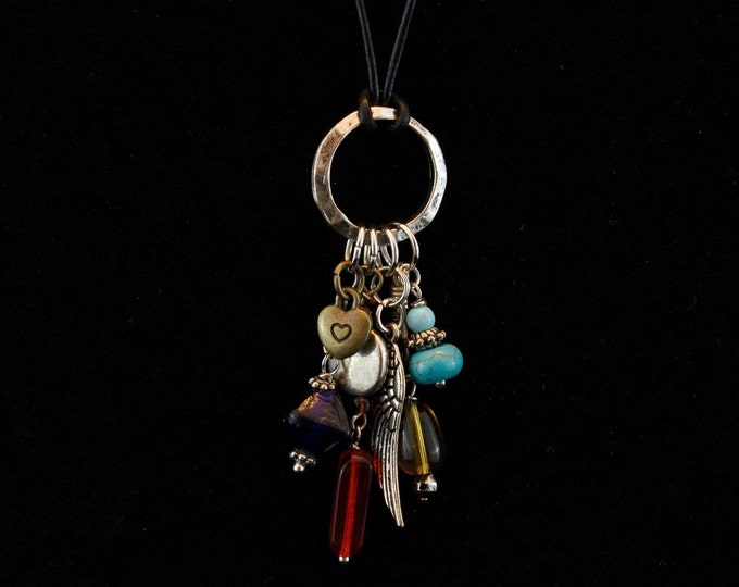 Handcrafted jewelry, Boho pendant necklace