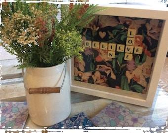 Believe In Love - Scrabble Frame
