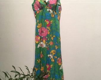 Sixties Summer Floor Length Party Dress