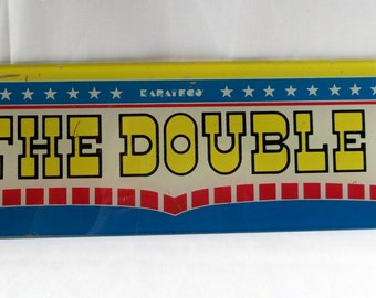 The Double arcade game glass / Karateco / Marquee western American / video game machine / arcade game / playroom