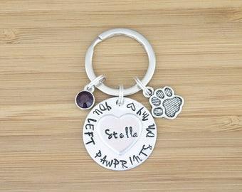 hand stamped keychain   dog memorial