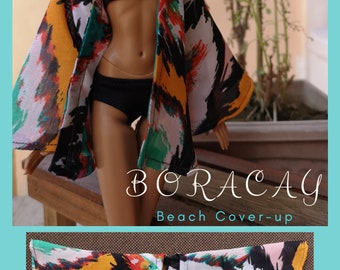 Boracay Beach Cover-Up for Fashion Royalty and Barbie Made to Move (Regular) Dolls