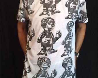 Hand Printed ET t-shirt