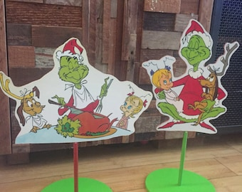 Grinch Themed centerpieces
