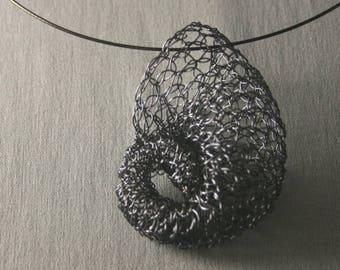 Art-to-wear statement pendant