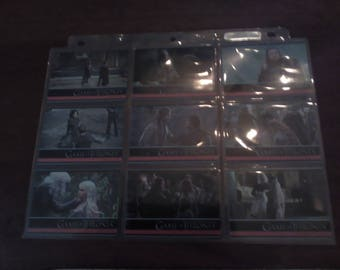 Season 1 Game of Thrones Cards - Full Set - In Pages - Mint Condition
